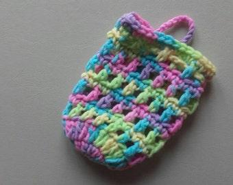 Soap sock, crochet soap sock, soap bag,ready to ship