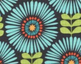 """Michael Miller """"Fringe Flowers"""" 100% cotton fabric by the yard"""
