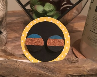 Upcycled Cork Earrings