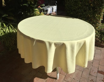 "Yellow 70"" Rd or Rectangle Polyester Easter Tablecloth (Several Sizes available, plus 70 napkins)"