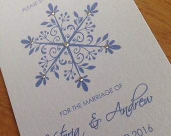 30x Swarovski Save The Date Cards