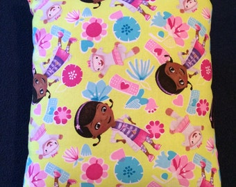 Cute DOC MCSTUFFINS throw pillow! Hand-made to order and brand new!
