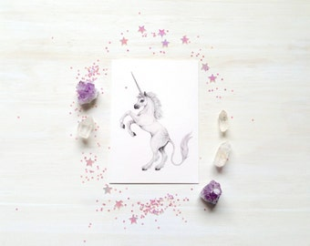 The little Unicorn - mini print