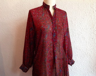 1970s Indian cotton tunic blouse