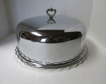 ... cake plate with cover covered cake plate etsy ... & cake plate with cover - domed cake plates pedestal glass domed lid ...