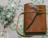 Handmade Leather Notebook With Antiquated Paper