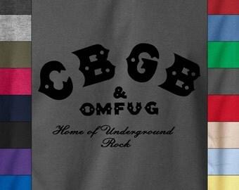 CBGB Soft Ringspun Cotton T-Shirt Underground Punk Rock Concert Classic Logo Tee