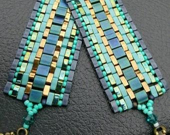 Simply Gorgeous. Miyuki Tila Bead Bracelet. Handcrafted Bracelet. Artisan Bracelet.  Hand Beaded Bracelet. Tila Bracelet. Hand Sewn Bracelet