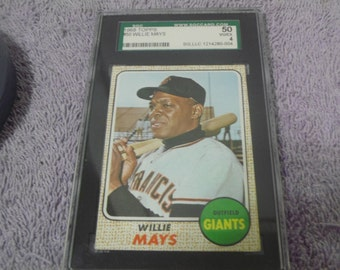 Graded 1968 Topps # 50 Willie Mays 50 VG/EX 4