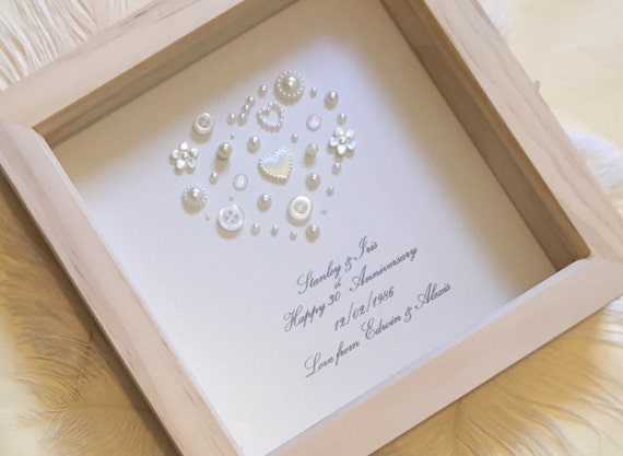 Gift For 30 Wedding Anniversary: 30th Pearl Wedding Anniversary Gift Pearl Wedding Present