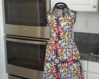 Mother/Daughter Wonder Woman apron