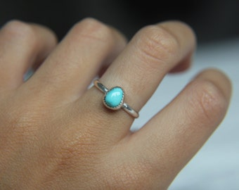 Size 7 · Turquoise Ring · Sterling Silver Ring · Carico Lake Turquoise · Handmade Ring