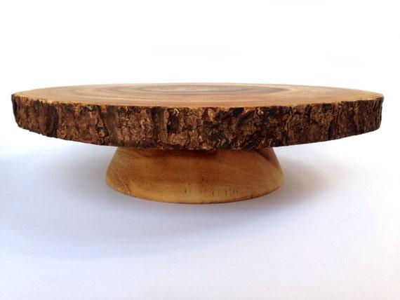 Wood Bark Cake Stand