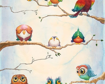 "Birds of a Feather 24"" x 36"" poster by award winning artist Brady Stoehr"