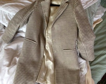 Miu Miu Checked Wool Coat