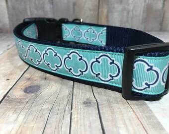 "The Ned | Designer 1"" Width Dog Collar | CupcakePups Collars | Boy Dog Collar - Medium/Large Dog Collar"