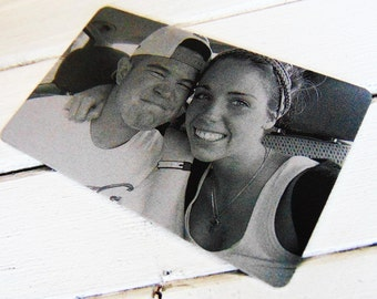 Anniversary Picture Card- Laser Engraved Image- Sentimental Gift for her/him- Personalized text for back Christmas gift