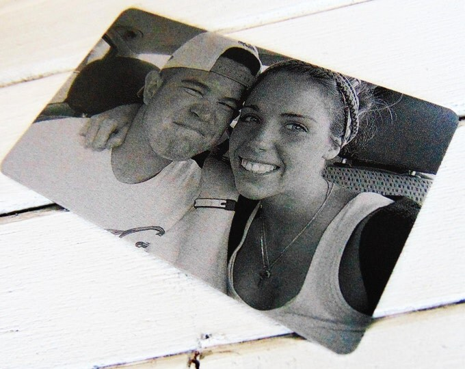 Anniversary Picture Card- Laser Engraved Image- Sentimental Gift for her/him- Personalized text for back