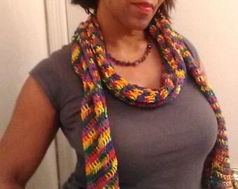 Multi color summer scarf