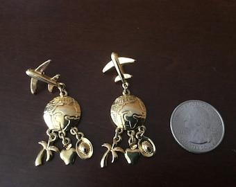 Trifari Vintage Airplane Earrings