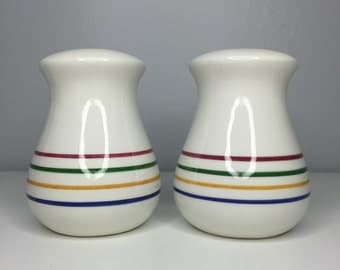 vintage hand painted salt and pepper shakers made in Italy