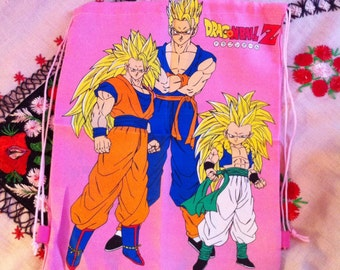 rare dead stock pink dragon ball z backpack bag