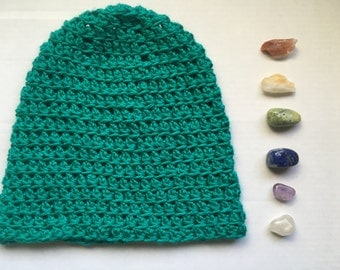 Original Oversized Slouch Moon Beanie : Teal