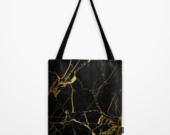 Gold&Black Marble TOTE BAG