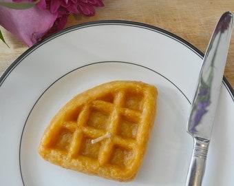 Waffle candle