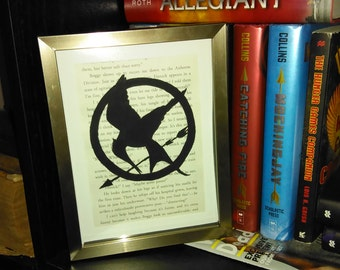 Upcycled Hunger Games Mockingjay Hand-Painted Mockingjay Symbol Wall Art