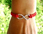 Infinity bracelet - Suede cord - Bracelet red with infinity - Charm - Red Bracelet - Bracelet to protect - Good Lucky Red String Bracelet