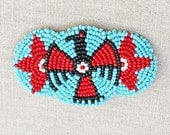 Very Cool Vintage, Late 1970's Bohemian, Native American Barrette