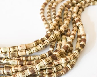 "Natural Vine Beads, Sig-id Tube Beads, 16"" strand"