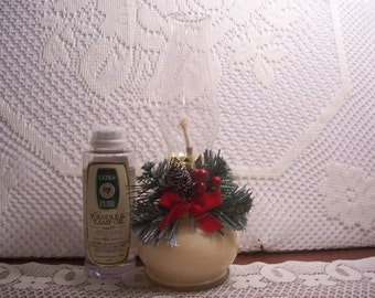 Christmas Hurricane Lamp with Lamp Oil