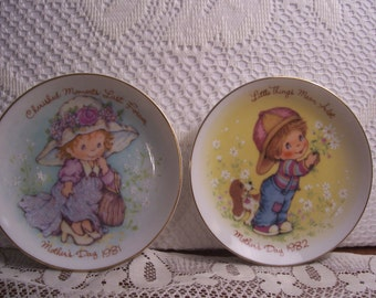 Seven Mother's Day Collector Plates, Avon