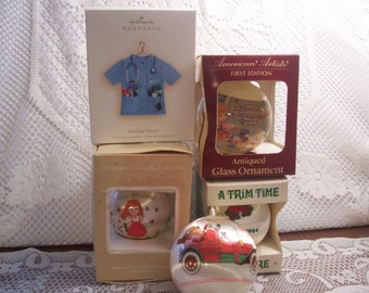 Four Assorted Christmas Ornaments