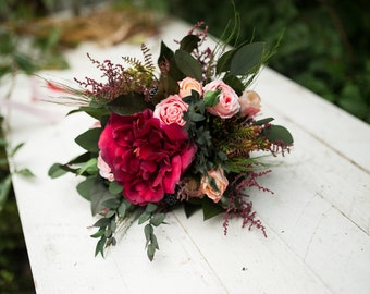 Wedding Bouquet bridesmaid Bouquet Flower Woodland Bouquet Rustic Bouquet Bridesmaid Bouquet Keepsake Bouquet chic boho wedding
