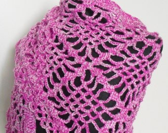 Pink and White Shawl