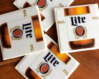 Miller Lite Beer Coasters