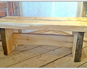 Wooden Bench/ Rustic Bench/Coffee Table
