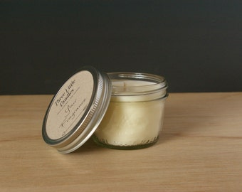 Unscented Soy Candle Mason Jar - 170g - 30 + Hour Burn Time