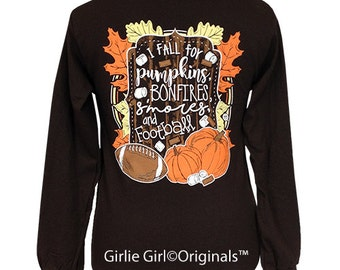 Girlie Girl Originals I Fall Long Sleeve Chocolate Unisex Fit T-Shirt