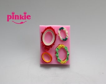 Bronze mirrors fondant silicone mold,chocolate mould ,candy resin molds, silicone mould,fondant cake decorating tools F082