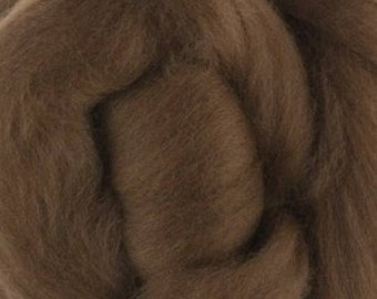 Extra fine Merino roving, Nut brown, 19 micron, 100 grams/3.5 oz.