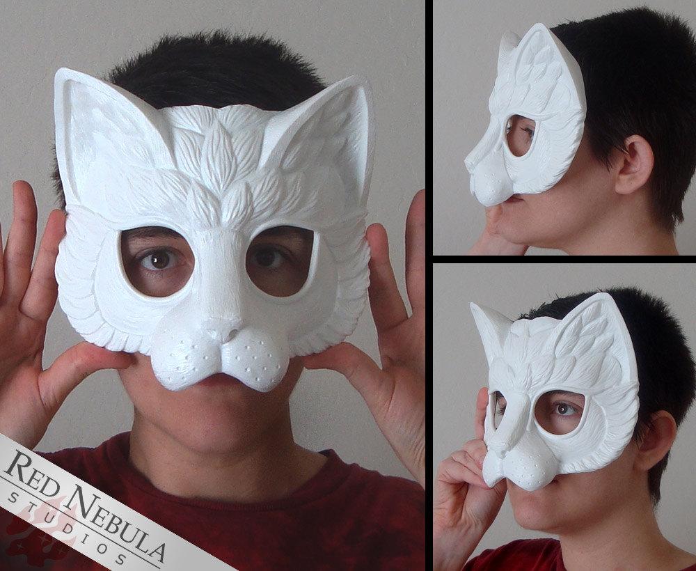 Uncategorized How To Make A Cat Mask stylized cat mask blank kitty masque masquerade mask