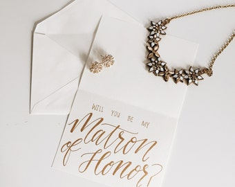 Maid/Matron of Honor Cards