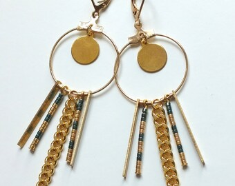 "Earrings ""Nil"" / / Tan Tao"