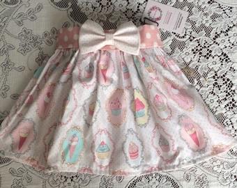 Elastic waist Twirl Skirt for baby Toddler Girl Cupcake Ice Cream Birthday Party Skirt
