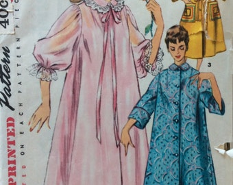 CLEARANCE!!  Simplicity 4972 misses duster, negligee & housecoat size 20 bust 38 vintage 1950's sewing pattern