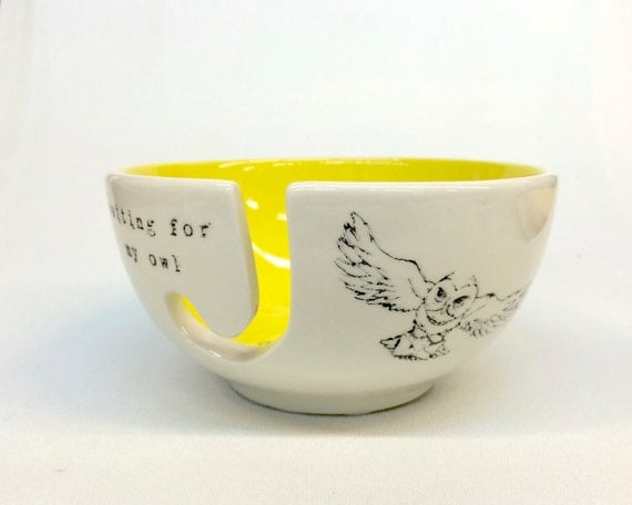 Still Waiting for My Owl Ceramic Yarn Bowl | Harry Potter Gift Guide